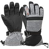 Best Ski Gloves - Alpine Swiss Mens Waterproof Gauntlet Ski Gloves Winter Review