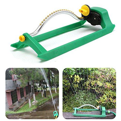 VWsiouev Jardín aspersor oscilante de césped, riego de tubería de jardín con conector riego de césped, para regar el césped, jardín, patio, niños jugando, 1 unidad.