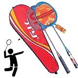GUOHAPPY Raqueta Badminton, Bádminton Entrenador Portátil, Incluyendo 2 Raquetas Y Bolsa De Almacenamiento 1 Raqueta