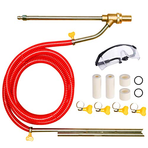 Selkie Pressure Washer Sandblasting Kit - Wet Abrasive Sandblaster Attachment, with Replacement Nozzle Tips,Protect Glasses, 1 4 Inch Quick Disconnect, 5000 PSI