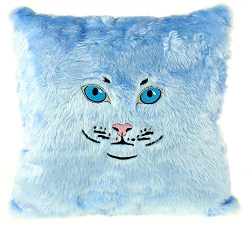 Gizzys/United Entertainment-Cuscino a Forma di Gatto, Colore: Blu Chiaro