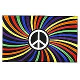 Hainice Banderas de la Paz del Mundo del símbolo de la Paz Banderas de la Paz Mundial, Color Vivo y Resistente a la fadena UV, Festival LGBT Carnival DE Carnaval Pantalla Banners - 150x90cm