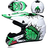 Downhill Off-Road Motorcycle Mountain Bike Full face Helmet Riding Helmet Full face ZSHIYELL Off-Road Motorcycle XL Hulk