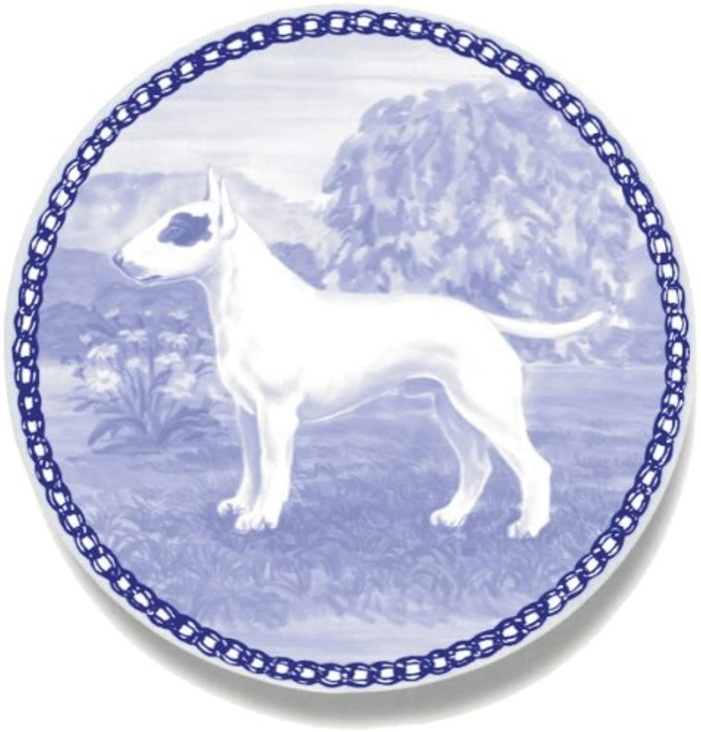 Bull Terrier Lekven Design Dog Plate 19.5 cm  7.61 inches Made in Denmark NEW with certificate of origin PLATE  7477