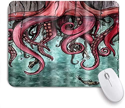 Gaming Mouse Pads, imagen de las criaturas marinas del pulpo gigante con las patas de remolino, la base de goma antideslizante alfombrillas de ratón para la computadora portátil, la computadora, el ho