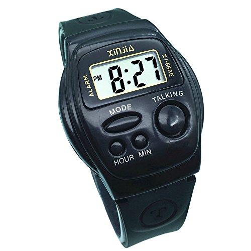 Nergo Reloj Parlante en Español para Ciegos, Niños, y Los Ancianos, Deportes Electrónicos Hablar Relojes Gatget Regalo 665SP-ES