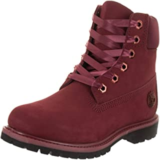 timberland womens premium boots in red