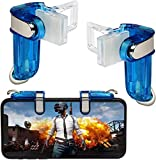 Joylin Mobile Game Controller, Mobile Gaming Joysticks, Cell Phone Game Controller with Sensitive Shoot and Aim Trigger Buttons for PUBG Compatible with Android and iOS (Blue)