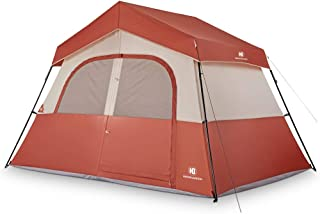 TOMOUNT 3 or 5 Person Tent - Professional Waterproof & Windproof & Pest Proof Camping Tent, Solid & Portable with Carry Bag, Easy & Quick Setup, Anti-UV, Double Layer, 3 Large Mesh for Ventilation