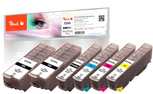 Peach Spar Pack Plus Tintenpatronen XL kompatibel zu Epson No. 33XL, T3357