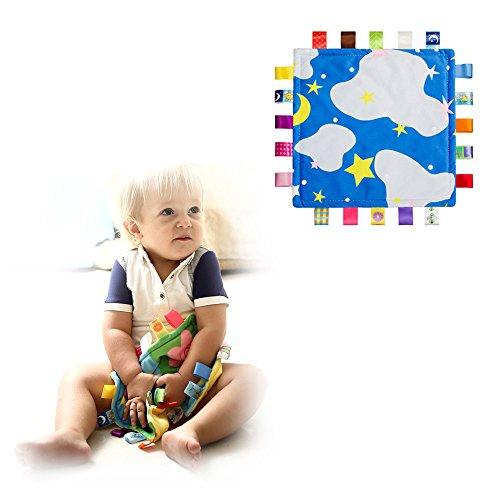 Couverture colorée de sécurité pour bébé Soft Touch en peluche (aucun dommage à la peau de bébé) helper sommeil, Apaisez serviette pour les enfants tout-petits