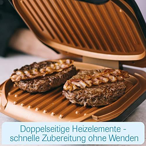 MediaShop Livington Low Fat Grill – kompakter Kontaktgrill für fettarmes Grillen – Elektrogrill mit Antihaft-Keramikbeschichtung und Fettablauf - 4