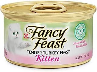 طعام القطط الرطب بنكهة الدجاج الرومي فانسي فيست من بيورينا، عبوة واحدة، 50000575008