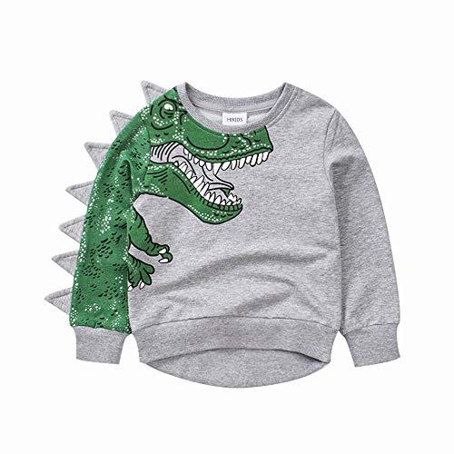 Jungen Sweatshirt Kinder Schwarz Langarm Pullover Top Sportlich Hoodie Crewneck Weltraumrakete T-Shirt Kinderkleidung (2-3 Jahre, grau)