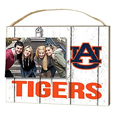 KH Sports Fan 10  x 8  Auburn Tigers Clip It Weathered Logo Collage Photo Frame