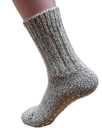 Hirsch Natur Norweger Stopper Socken, 100prozent Wolle (kbT) (38/39)