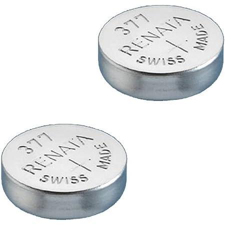 2 X Renata 377 Quecksilberbatterie Für Uhren Sr626sw Elektronik