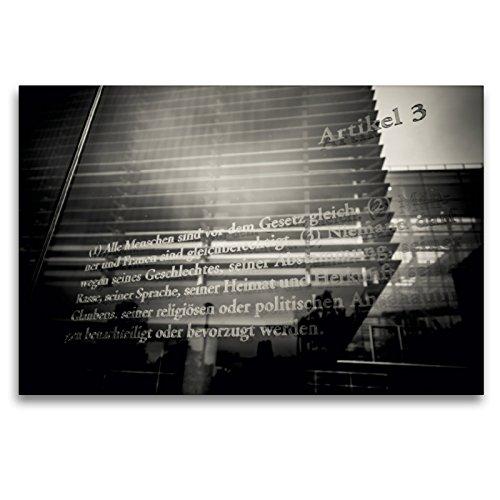 Premium Textil-Leinwand 120 x 80 cm Quer-Format Grundgesetz Art. 3 | Wandbild, HD-Bild auf Keilrahmen, Fertigbild auf hochwertigem Vlies, Leinwanddruck von Ingo Gerlach