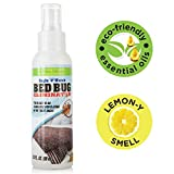 Eco-Friendly Bed Bug Spray - Non-Toxic Bed Bug Killer & Barrier - Essential Oil...