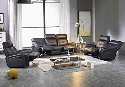 Mapo Möbel Voll-Leder Sofagarnitur Fernsehsofas Relaxsofas 5130-3+2+1-S