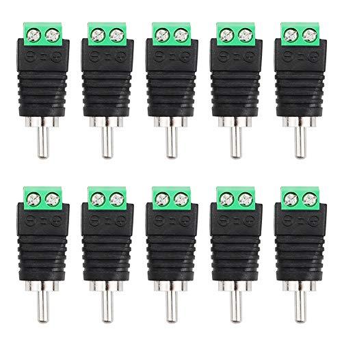 FIXITOK 10 Piezas Conectores Eléctricos DC - Adaptador RCA de Conector Eléctrico...