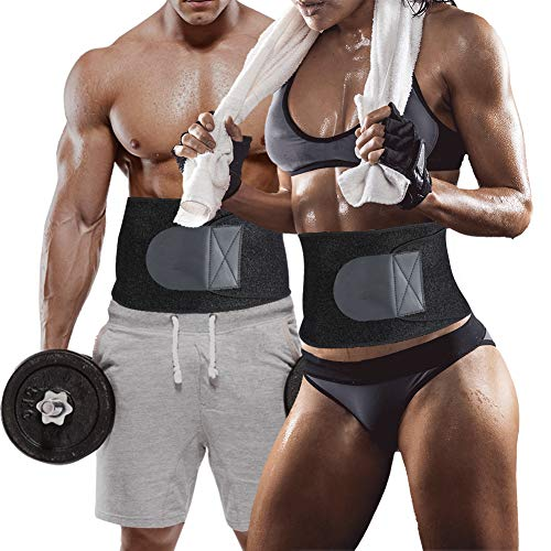 YXTY Waist Trainer Belt for Men & Women, Best Abdominal Trainer Belt, Neoprene Sauna Sweat Belly Band Body Shaper for Weight Loss(S)