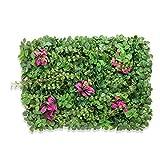 TTIK Siepe Sintetica Sempreverde Artificiale Selezione Esempio Pannelli di Foglia Prato Decorazioni Giardino 40×60cm/pc,A