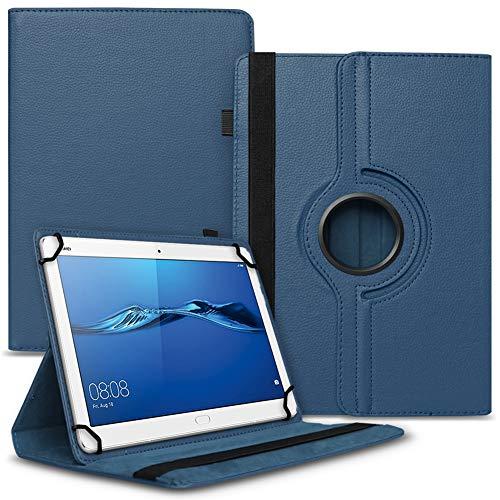 UC-Express Schutzhülle kompatibel für Huawei Mediapad T1 T2 T3 10 Tablet Robuste Universal Tablet Hülle Tasche Standfunktion 360° Drehbar Cover Hülle, Farben:Blau