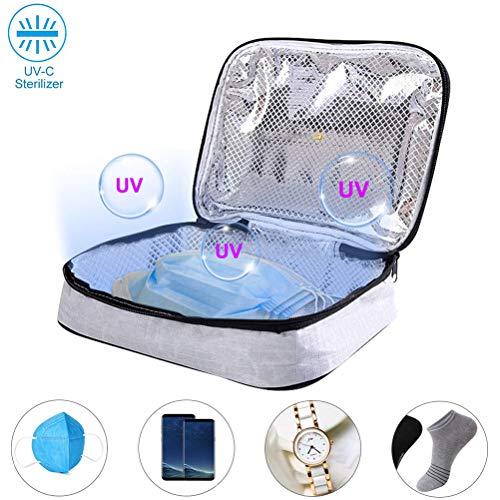 HEREB - Bolsa esterilizadora UV USB para desinfección UV, bolsa portátil esterilizadora para joyería y ropa interior