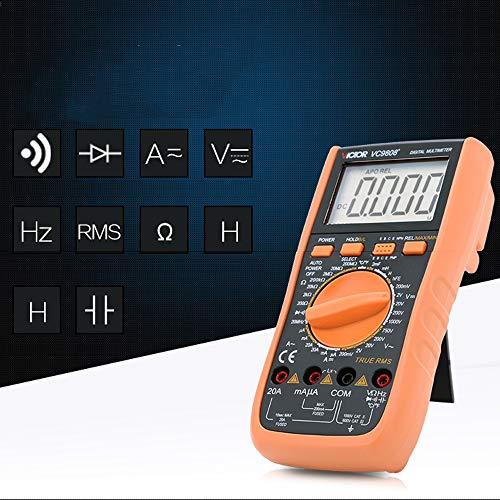 VC9808+ 3 1/2 True RMS multímetro digital 1000V 20A medidor amperímetro medidor de frecuencia de inductancia DC AC