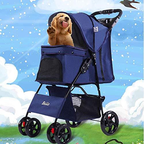 Silla de Ruedas para Perros Pet Wheelchair Viajes cochecito del animal doméstico  Los Mascotas Animal Cochecito  Vet viaje Cochecito Cochecito Perro minusválidos  2 Ruedas giratorias delantera y trase