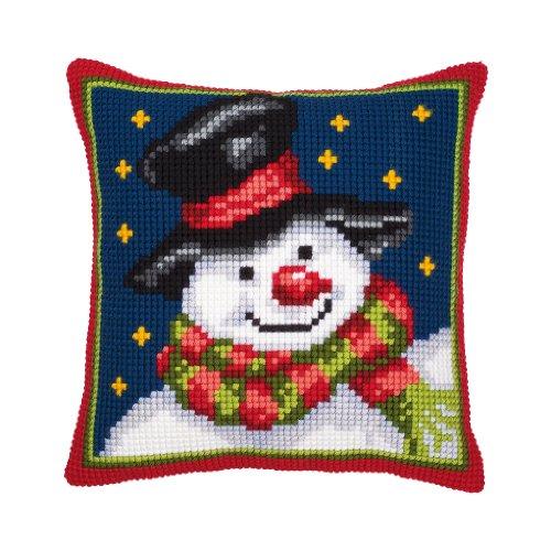 Vervaco Cross Stitch Cushion: Snowman,Setof1,