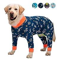 ペット用犬用パジャマ犬用服ジャンプスーツ犬用コスチュームコート中型大型犬用漫画プリント服シャツ