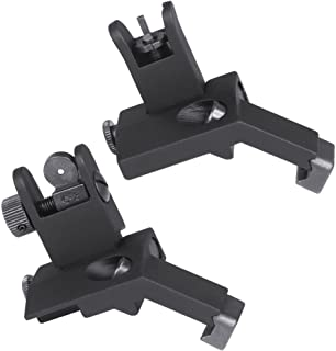 Green Blob Outdoors Iron Sights Flip Up 45 Degree Front and Rear Offset Rapid Transition Back Up Spring Loaded