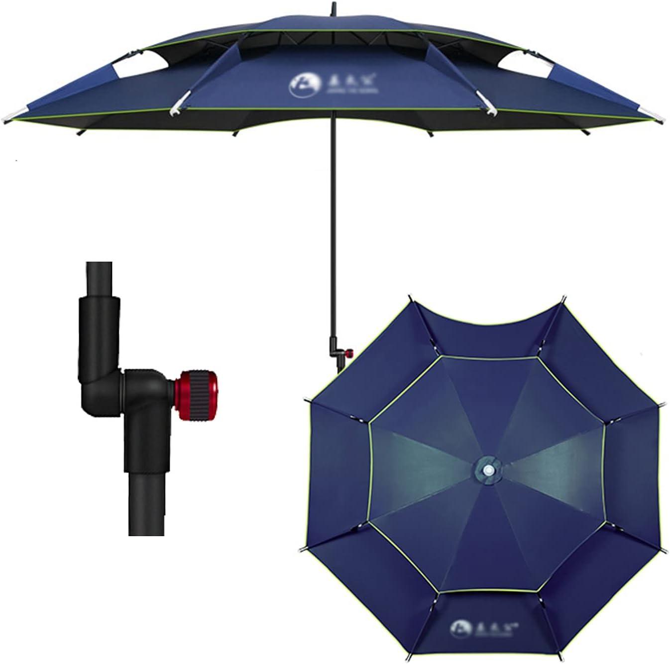 ZAZAP-1 Navy Max 75% OFF Blue Fishing Umbrella Parasol safety Garden Round Umbrell