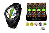 Golf Buddy aim W10 Bluetooth Wireless Golf GPS Smartwatch Bundle with 1 Dozen Saintnine Golf Balls, 5 Ball Markers and 1 Magnetic Hat Clip