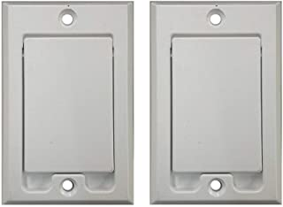 Central Vacuum Square Door Inlet Wall Plate for Nutone Beam VacuFlow - White (2-Pack)