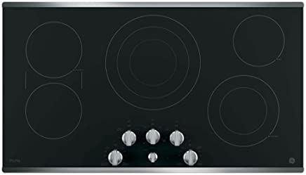 GE PP7036SJSS 36 Inch Smoothtop Electric Cooktop with 5 Radiant Elements, Sync, Versatile Burners