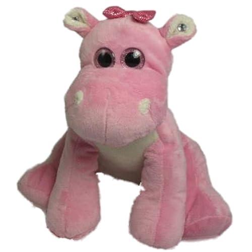 Wishpets Sitting Hippo Plush Stuffed Toy Pink 10 Inches Tall 649568d71245