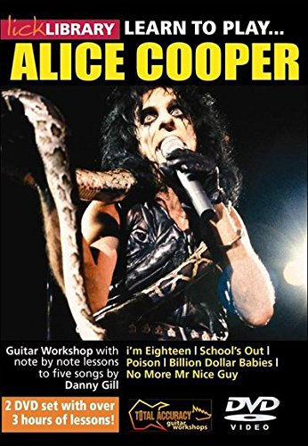 Learn to play Alice Cooper - Lick Library [Reino Unido] [DVD]