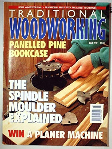 Traditional Woodworking Magazine July 1992 MBox2699 Panelled Pine Bookcas