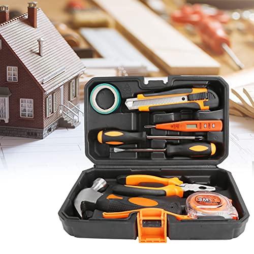 Juego de herramientas para el hogar, juego de herramientas de reparación multifunción Juego de herramientas de mano para el hogar portátil con caja para garaje para maletero de automóvil
