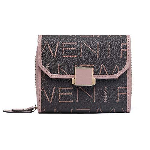 Hochwertige Lederbrieftasche für Damenmode, kurze Brieftasche aus Leder mit mehreren Kreditkarten