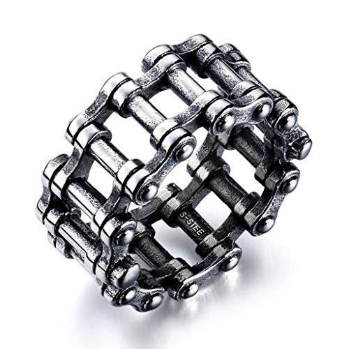 Gergxi Titanium Steel Spinner Ring Motocykl Biker Chain Band Punk Rock Biżuteria męska