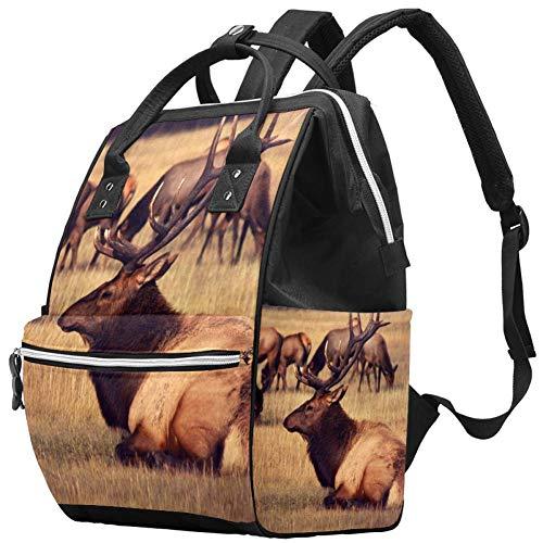 Grand sac à langer multifonction pour bébé, sac à dos, sac à dos, sac à dos, sac à dos pour maman et papa, élan