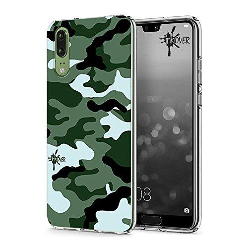Inkover Soft Case Inkover Design Camouflage Design Militare Mimetico Cover Huawei P8 LITE 2017 - Inkover - Custodia 0.6mm sottile morbida in Tpu flessibile Resistente, leggero e indeformabile Controllo completo porte, tasti e funzionalità Protegge da...