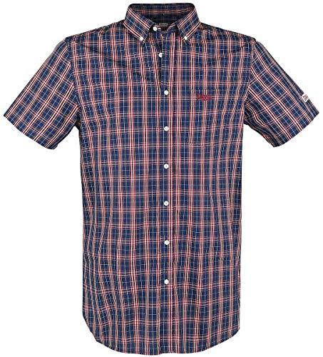 Lonsdale London Brixworth T-Shirt à Manches Courtes pour Homme Coupe ajustée XL Rouge/Blanc/Bleu foncé.