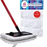 VanDuck 100% Cotton Terry Mop Pads 15x8 Inch 3-Pack (Mop is Not Included)....