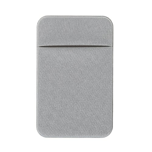 MB-LANHUA Teléfono Móvil Tarjeta de Crédito Titular de la Cartera Bolsillo Stick-On Adhesivo Elástico Herramienta Gris