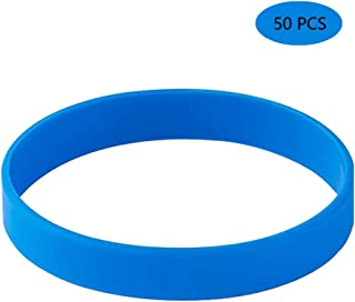 Vitalite Silicone Bracelets Blank Rubber Wristbands,50pcs/Pack Party Accessories